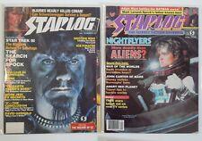 STARLOG Movie Magazine #82, 117, 127, 130, 153, 154 LOT of 6 Star Trek