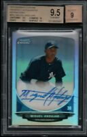 BGS 9.5 w/10 AUTO 9 MIGUEL ANDUJAR 2013 Bowman Chrome REFRACTOR RC TRUE GEM MINT