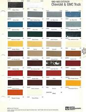 1982 1983 CHEVROLET TRUCK AND GMC TRUCK AND VAN PAINT CHIPS (R-M)