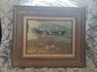 Original Carolyn Blish Realist Oil Painting Seascape Beach Row Boat Sea Gulls