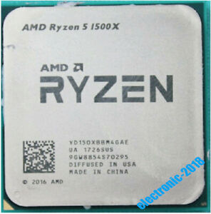 AMD Ryzen 5 1500X R5-1500X 3.5-3.7 GHz 4-Core 65W Socket AM4 CPU Processor