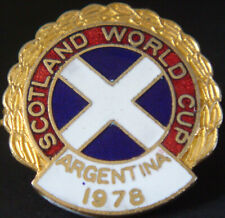 More details for scotland world cup 1978 argentina badge make coffer n'ton brooch pin 25mm x 26mm