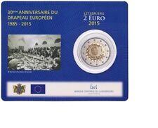 "Luxemburg 2 euro ""Europese vlag"" 2015 BU Coincard Commemorative - In Stock!"