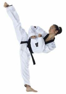Taekwondo Anzug, DAX Vision Master dobok, Revers schwarz