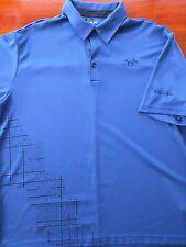 Adidas Golf Climacool Golf Shirt The Ridge at Manitoa Ontario Canada XL Blue