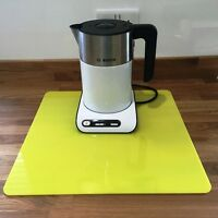 Square Kitchen Worktop Savers in Yellow Gloss Finish Acrylic 3mm