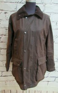 Samuel Windsor Brown Waxed cotton jacket size Small