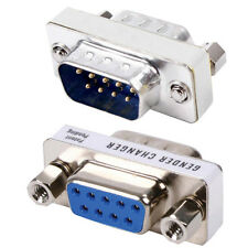 9 Pin D-SUB RS232 Male to Female Port Protector - Computer Serial Adapter