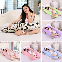 Full Body Cover Pillow Soft Pregnant Women U Shaped Pillowcase Maternity Cushion
