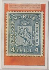 1930s Trade Ad Card - 1867 Norway Norge 4 Skilling Postage Stamp