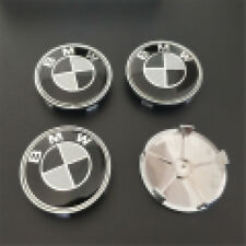 4pcs/set BMW Wheel Center Cap Badge Rim Center Emblem Caps Black 68mm