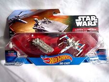 STAR WARS HOT WHEELS DIE CAST TRANSPORTER VS X-WING DOUBLE PACK NEW & SEALED