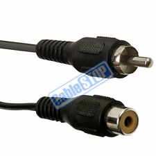 1 METRE Single RCA Phono EXTENSION Cable Lead Plug to Socket 1M