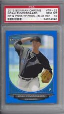 2013 Bowman Chrome BLUE Refractor #TP-22 Noah SYNDERGAARD - PSA 10+++ RC 71/99