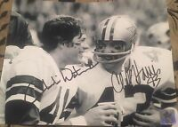 CLIFF HARRIS & CHARLIE WATERS  Dallas Cowboys 8x10 Photo Autographed Gdst Holo