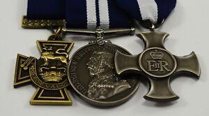 3 Replica WW1 WW2 Service/War Medals Victoria Cross Naval, ER Cross, George V