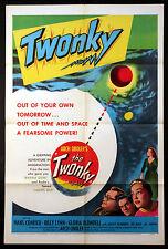 THE TWONKY ARCH OBOLER HANS CONREID CULT TV SCI-FI 1953 1-SHEET