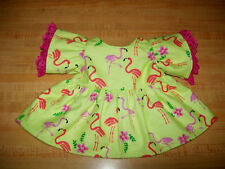 """Flamingo Flamingos Flowers Dress Pink Lace for 16"""" Cpk Cabbage Patch Kids"""