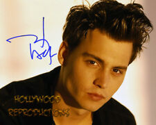 REPRINT - JOHNNY DEPP ~ Autographed signed photo