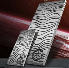 2021-  Niue 10 oz SILVER STAR WARS Silver Mandalorian Beskar Bar **BACKORDER**