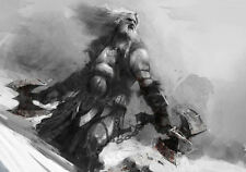 Framed Print - Viking Warrior on a Snow Covered Mountain (Picture Poster Art)