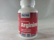 Jarrow Formulas Arginine 1000 Milligrams 100 Tablets Exp 08/2020
