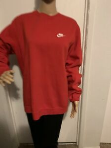 Nike Men's large Swoosh  Embroidered Crewneck Sweatshirt