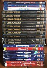 Lot Of 20 Disney Pixar Star Wars DVD's Wholesale Reseller Box Sets Blu Ray Trilo