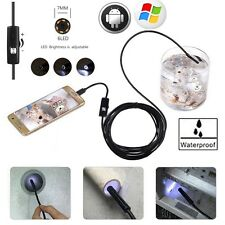 5m 6LED 7mm Android Endoskop Wasserdicht Endoscope Inspektionskamera Rohrkamera