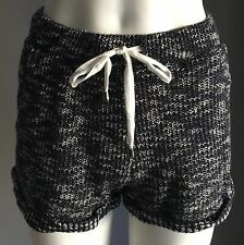 Pre-owned Navy & White FACTORIE Textured Knit Athletic Style Shorts Size XS/8
