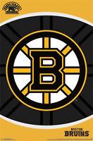 BOSTON BRUINS - 2014 LOGO POSTER - 22x34 NHL HOCKEY TEAM 13638