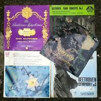 Job Lot Bundle of 4 Beethoven Vinyl Albums. Fantastic Collection of Symphonies.