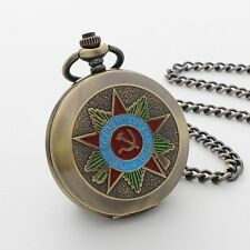 Reloj De Bolsillo hombres Unisex ruso tema Completo Cazador Mecánico Cuerda Cadena