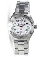 Vostok Komandirskie 650546 Watch 24 Hours Automatic Russian Wrist Watch White