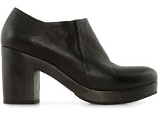 COCLICO SHOES SABLE CLOG BOOTIES BLACK LEATHER PLATFORM ANKLE BOOT NEW $445 39