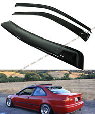 92-95 5TH GEN HONDA CIVIC COUPE EJ1 EJ JDM SMOKE REAR WINDOW VISOR + DOOR VISORS