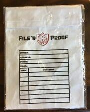 Filer Proof Fire Proof Resistant Document Envelope Bag Home Safe Passport Gun