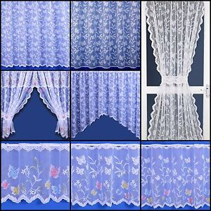 Butterfly Selection - Net Curtain, Cafe Net, Jardinieres And Net Sets