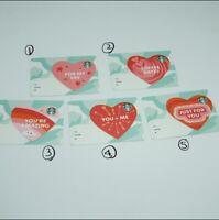 Starbucks card 2020 korea Valentine's Day Love Series Gift Card love message