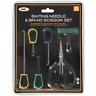 Baiting Needle Set 6 Piece Carp Fishing Tackle Braid Scissors Knot Puller NGT