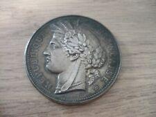 Médaille ancienne bronze argenté Exposition 1878 palais Trocadero Signée OUDINE