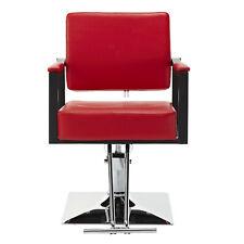 Hydraulic Hair Styling Chair Salon Barber Chair Haircut Beauty Equipment Red