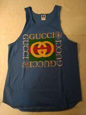New listing Vintage 90s Bootleg Gucci Logo Tank Top Sleeveless T-Shirt