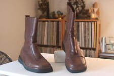 Frye 77715 Avenger Zip Brown Leather 9 3/4 Inches Tall Boots Women's Size 7.5 M