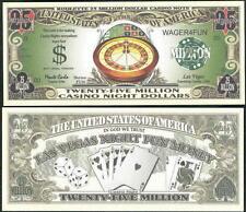 Roulette Casino Night 25 Million Dollar Novelty Bill - Bills