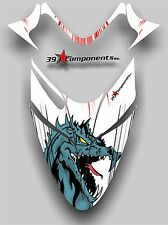 Polaris IQ RMK Shift Dragon Hood Graphics Decal Sticker  2005 - 2012 Dragon Fire