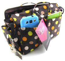 Periea handbag organiser, tidy, organizer,insert brown+MC pokerdots-Prya