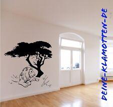 Wandtattoo Top Qualität Baum Afrika Wüste Löwe Lion Tattoo Wohnzimmer Flur