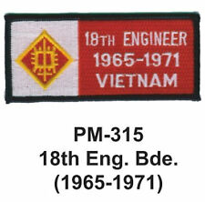 "3""  18TH ENG.BDE.(1965-1971) Embroidered Military Patch"