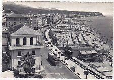 SAVONA ALBISSOLA 51 SPIAGGIA BAGNI Cartolina viaggiata 1960